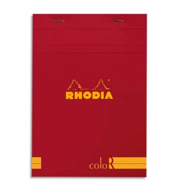 Rhodia Journal 16973 148X21Cm Head Stapled Pad N16  70S Lined Poppy