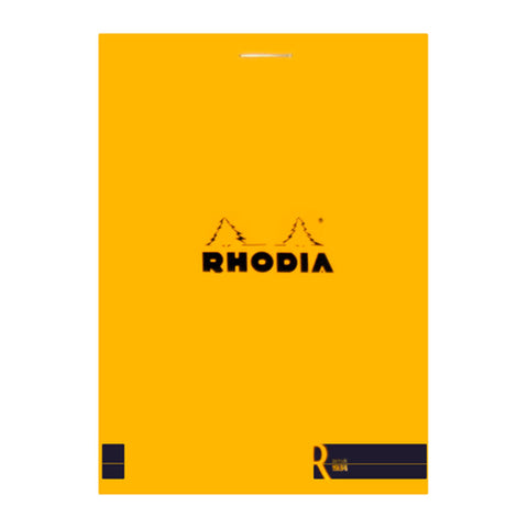 Rhodia Journal 122007 85X12Cm Head Stapled Le R Pad N12  Plain 70S Orange