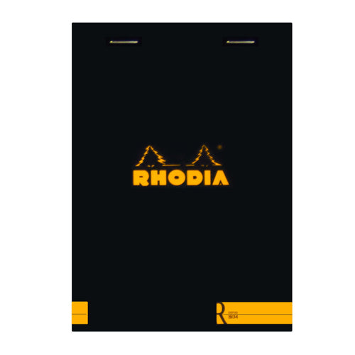 Rhodia Journal 132012 104X148Cm Head Stapled Le R Pad N13  70S Lined Black