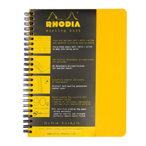 Rhodia Journal 193418 16X21Cm Meeting Boo