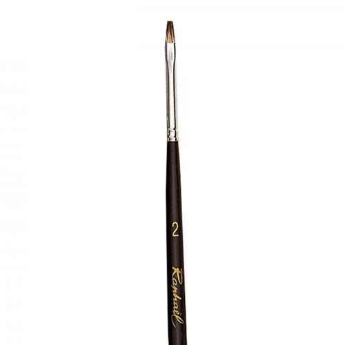 Raphael Brush No. 2 877 Kevrin + Flat Brush For Oil Colour