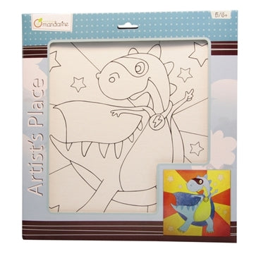 Avenue Mandarine Canvas Board 52540O  Super Dino