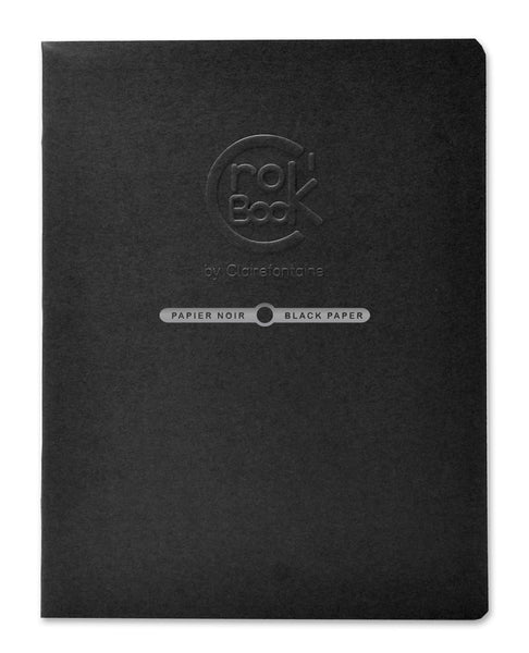 Clairefontaine Crok'book Stapled 20sh 60315c Black 17x22 120g