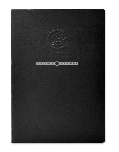 Clairefontaine Crok'book Stapled 20sh 60316c Black A4 120g
