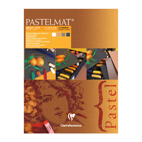 Clairefontaine Pastel Pad 96005 360g 12sheets 4shades Mat