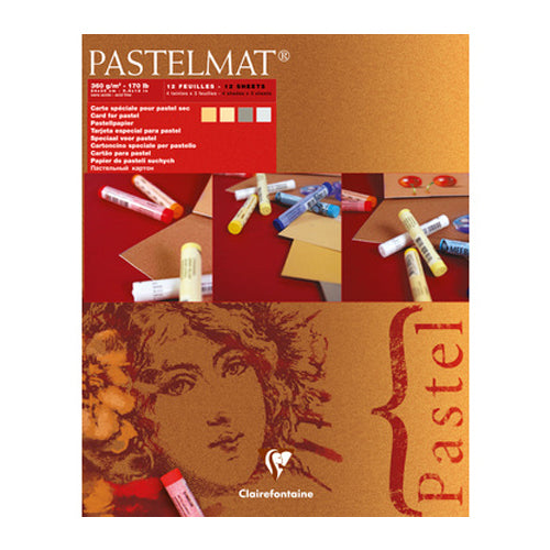 Clairefontaine Pastelpad 96017 360g 12sheets 4shades Mat