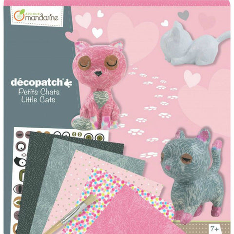 Avenue Mandarine Decopatch Kc013O  Creative Box Cats Kit