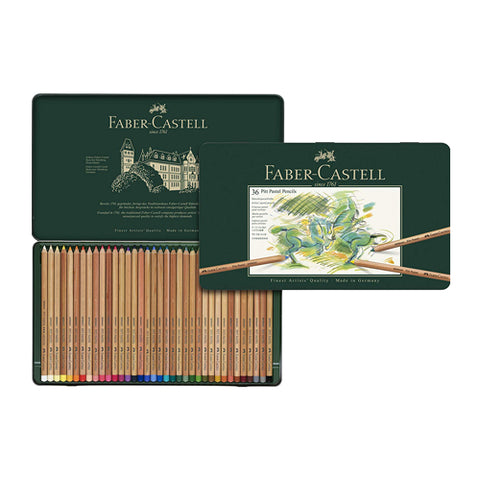 Faber Castell Pencil Pastel 112136 36 Colors Metal Case Pitt
