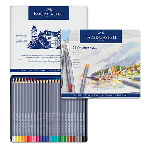 Faber-Castell Goldfaber Watercolour Pencil 24 colors set No. 114624 Water soluble colour pencil
