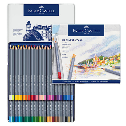 Faber-Castell Goldfaber Watercolour Pencil 48 colors set No. 114648 Water soluble colour pencil