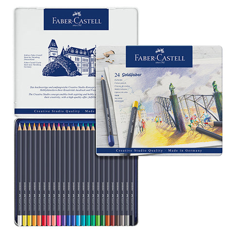 Faber-Castell Goldfaber Colour Pencil 24 colors set No. 114724 Permanent colour pencil
