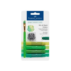 Faber Castell Watercolor Crayon 121804 4Colors Green Gelato