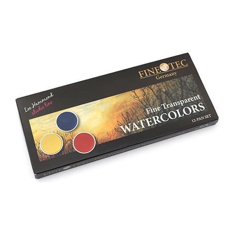 Finetec Watercolors Lt 12 Watercolour Fine Transparent 12 Pan Set