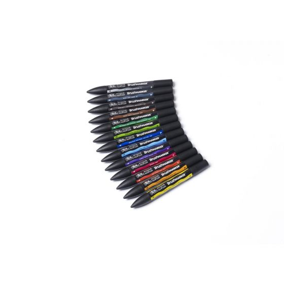 Winsor & Newton Brush Marker Set 03022230 Vibrant 12S