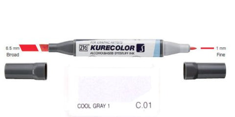 Zig Blender Graphic Marker Kc 3000 B01  Kurecolor Twin Tip