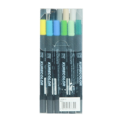 Zig Brush Marker Cnsk3 12 Colors Manga Starter Set Japanese Boy Kurecolor