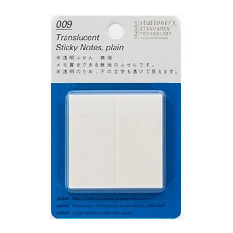 Stalogy Sticky Notes S3031  Translucent Plain 25Mm