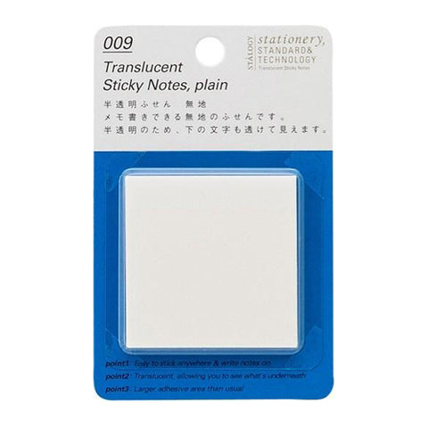 Stalogy Sticky Notes S3032  Translucent Plain 50Mm