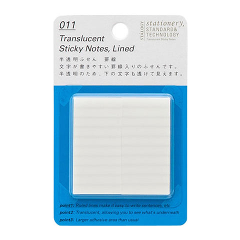Stalogy Sticky Notes S3051  Translucent Lined 25Mm