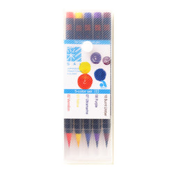 Sai Brush Marker Xca2005Vc 5Colors Burnt Umber Purple Ultramarine Yellow Vermilion