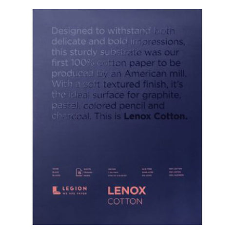 Legion lenox 100 pad white 11 x 14 in 250 gsm