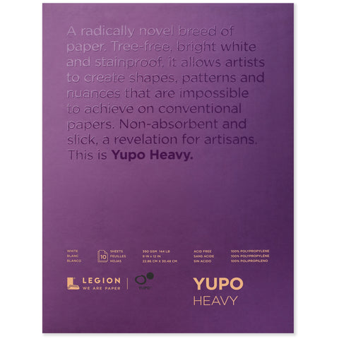 Legion yupo pad medium heavy 9 x 12 in 200 gsm