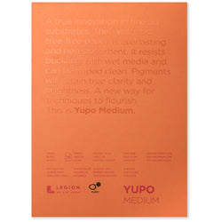 Legion yupo pad white medium 5 x 7 in 200 gsm