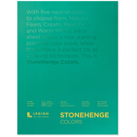 Legion stonehenge pad colors 9 x 12 in 250 gsm