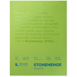 Legion stonehenge pad white 9 x 12 in 250 gsm