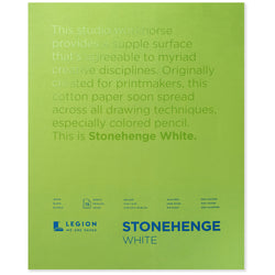 Legion stonehenge pad white 11 x 14 in 250 gsm