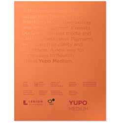 Legion yupo pad white medium 9 x 12 in 200 gsm