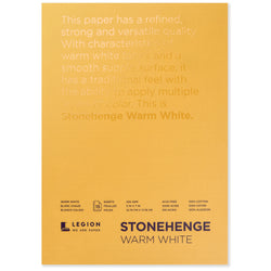 Legion stonehenge pad warm white 5 x 7 in 250 gsm