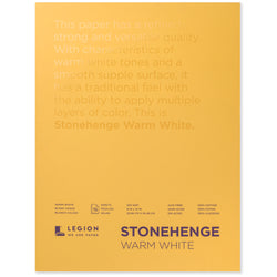 Legion stonehenge pad warm white 9 x 12 in 250 gsm