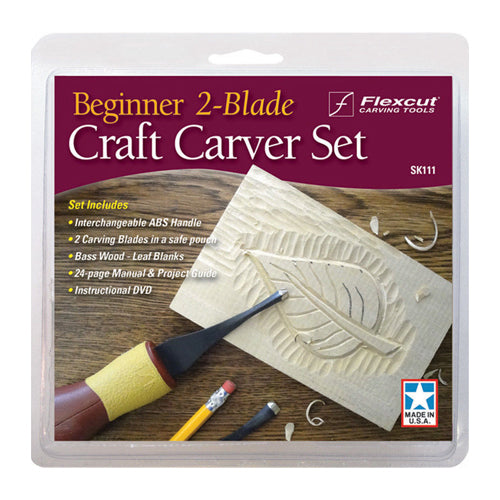 Flexcut Beginner Blade Craft Carver Set Sk111  2 Pc