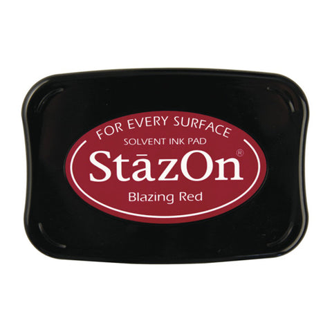 Tsukineko Craft Stamper Pad Sz021 Blazing Red Stazon