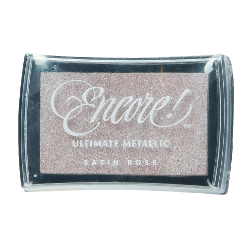 Tsukineko Craft Stamper Pad Umr14 Satin Rose Ultimate Metallic