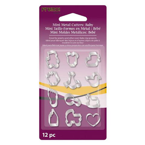 Sculpey Clay Tools Amm1012  Premo Baby 12 Pc Mini Metal Cutters