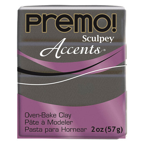 Sculpey Clay Pe02 5120 57G Premo Accents Graphite Pearl Oven Bake 2 Oz