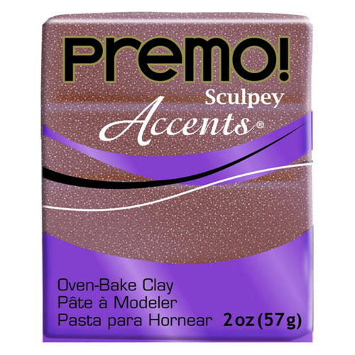 Sculpey Clay Pe02 5135 57G Premo Accents Rose Gold Glitter Oven Bake 2 Oz