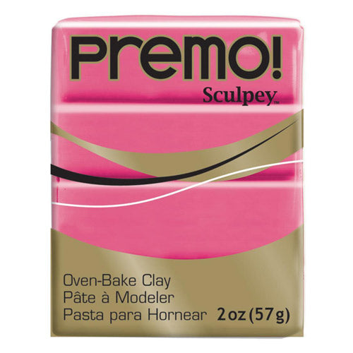 Sculpey Clay Pe02 5503 57G Premo Accents Fluorescent Pink Oven Bake 2 Oz