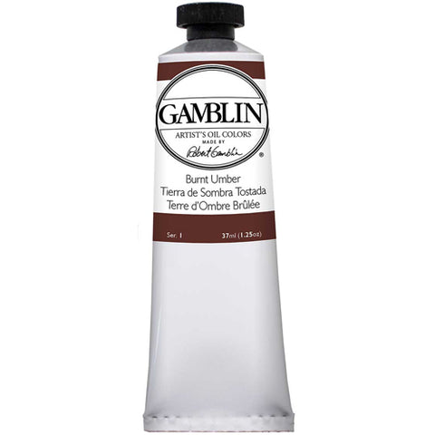 Gamblin Artist Grade Oil 1080 Burnt Umber 37 ML
