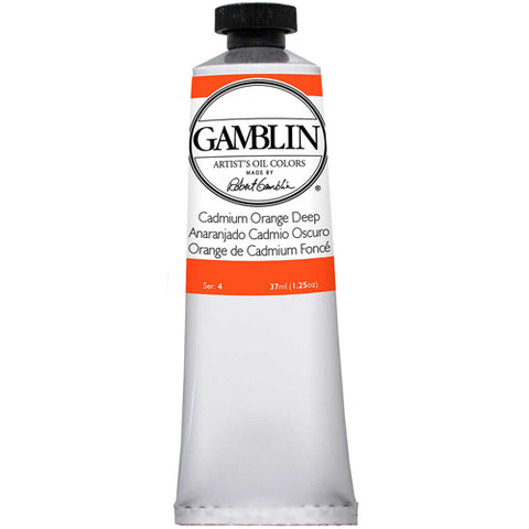 Gamblin Artist Grade Oil 1125 Cadmium Orange Dp 37 ML