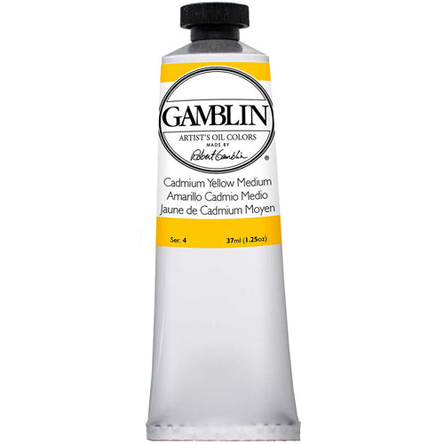 Gamblin Artist Grade Oil 1180 Cadmium Yellow Med 37 ML