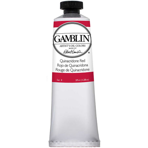 Gamblin Artist Grade Oil 1590 Quinacridone Red  37 Ml