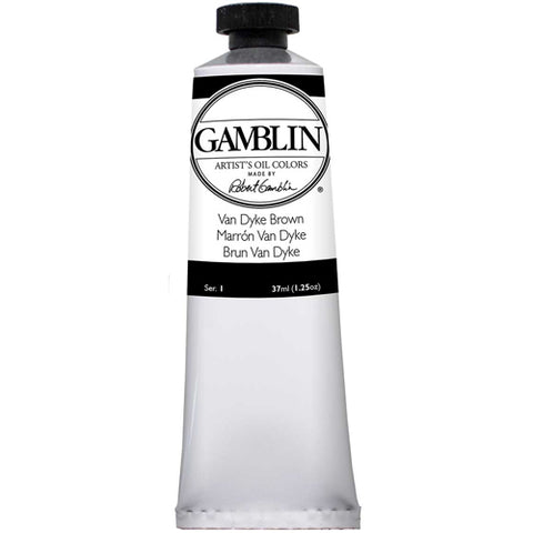 Gamblin Artist Grade Oil 1720 Van Dyke Brown 37 Ml