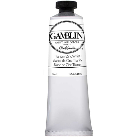 Gamblin Artist Grade Oil 1820 Titanium Zinc White 37 Ml
