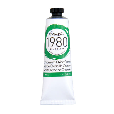 Gamblin 1980 Oil 7215 Chromium Oxide Green   37 Ml