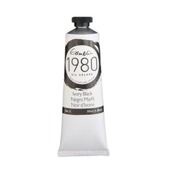 Gamblin 1980 Oil 7360 Ivory Black   37 Ml