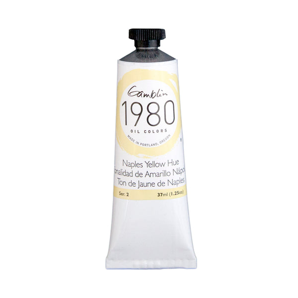 Gamblin 1980 Oil 7450 Naples Yellow Hue    37 Ml
