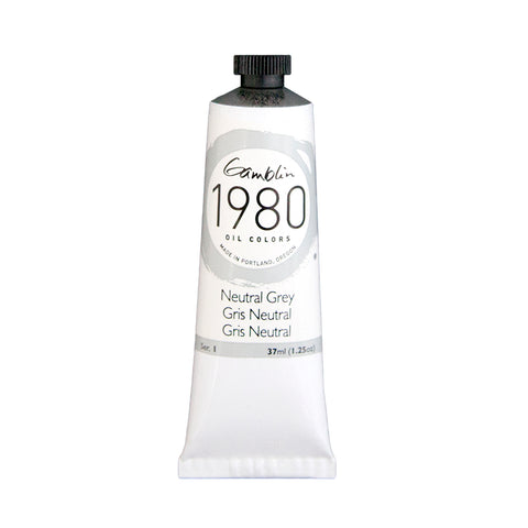 Gamblin 1980 Oil 7485 Neutral Grey 37 Ml